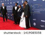 Small photo of LOS ANGELES - JUN 6: John David Washington, Katia, Pauletta, and Denzel Washington at the AFI Honors Denzel Washington at the Dolby Theater on June 6, 2019 in Los Angeles, CA