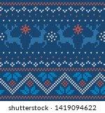 christmas knit geometric... | Shutterstock .eps vector #1419094622