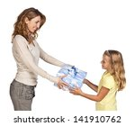Mother and daughter at Mother's Day or birthday - stock photo