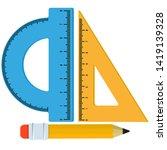 protractor ruler set ...   Shutterstock .eps vector #1419139328