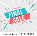 final sale banner poster.... | Shutterstock .eps vector #1419150185