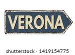 Verona Vintage Rusty Metal Sig...