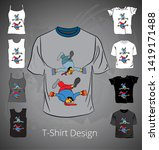 t shirt with cartoon... | Shutterstock .eps vector #1419171488