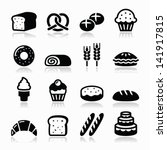 bakery  pastry icons set  ... | Shutterstock .eps vector #141917815