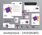 corporate business  identity...   Shutterstock .eps vector #1419181802