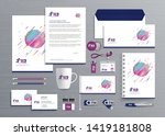 corporate business  identity... | Shutterstock .eps vector #1419181808