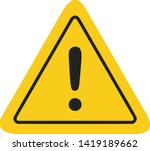 caution icon   sign in flat... | Shutterstock .eps vector #1419189662