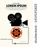 movie and film poster modern... | Shutterstock .eps vector #1419192605