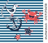 Nautical Background With...