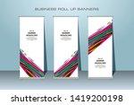 roll up banner design template  ... | Shutterstock .eps vector #1419200198