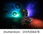 old vintage movie projector on...   Shutterstock . vector #1419206678