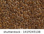 close up of brown flaxseeds... | Shutterstock . vector #1419245138