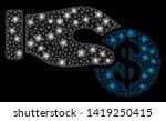 bright mesh dollar donation... | Shutterstock .eps vector #1419250415
