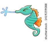 Seahorse Vector Cartoon Clipar...