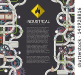 Industrial Background With Tex...