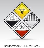 isolated vector danger sign... | Shutterstock .eps vector #141932698