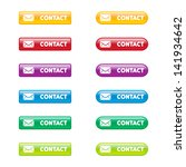 colorful set of contact buttons | Shutterstock .eps vector #141934642