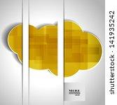 yellow cloud | Shutterstock .eps vector #141935242