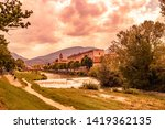 A View Of Foligno  Crossed By...