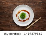 japanese wakame seaweed salad... | Shutterstock . vector #1419379862