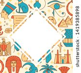 background with egypt symbols... | Shutterstock .eps vector #1419385898
