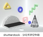 wall floor corner white scene... | Shutterstock . vector #1419392948