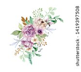 watercolor illustration. a...   Shutterstock . vector #1419397508