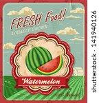 Retro Fresh Food Poster Design