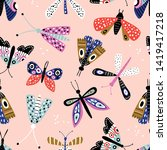 seamless pattern with colorful... | Shutterstock .eps vector #1419417218