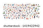 crowd of flat illustrated... | Shutterstock .eps vector #1419422942