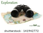 black modern binoculars with... | Shutterstock . vector #141942772