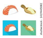 vector design of crop and... | Shutterstock .eps vector #1419445082