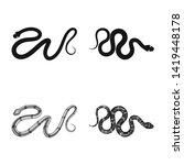 vector design of mammal and...   Shutterstock .eps vector #1419448178