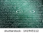 solution concept in word tag... | Shutterstock . vector #141945112