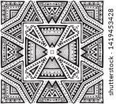 seamless ethnic pattern. black... | Shutterstock .eps vector #1419453428