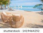 Chair Swimming Pool Resort Maldives - Fine Art prints