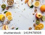 healthy food vegan breakfast...   Shutterstock . vector #1419478505