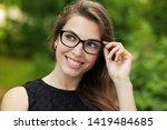 happy attractive young woman... | Shutterstock . vector #1419484685