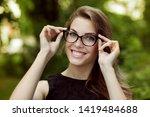 happy attractive young woman... | Shutterstock . vector #1419484688