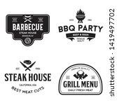 steak house  barbecue  bbq... | Shutterstock .eps vector #1419497702