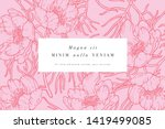 vintage card with narrow leaved ... | Shutterstock .eps vector #1419499085