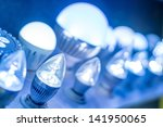 some led lamps blue light... | Shutterstock . vector #141950065