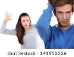 young couple having a row | Shutterstock . vector #141953236