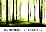 forest nature abstract... | Shutterstock . vector #1419534842