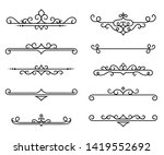 calligraphic decorative... | Shutterstock .eps vector #1419552692