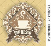 coffee symbol | Shutterstock .eps vector #141956416