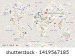 world travel line icons map....   Shutterstock .eps vector #1419567185