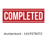completed rubber stamp. red...   Shutterstock .eps vector #1419578372