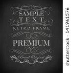 chalk  typography  calligraphic ... | Shutterstock .eps vector #141961576