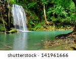 waterfall in green forests | Shutterstock . vector #141961666